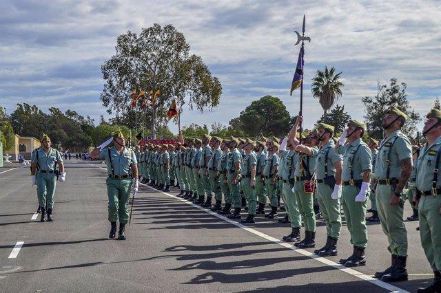 Brigada de la Legión en la base de Viator (Almería)