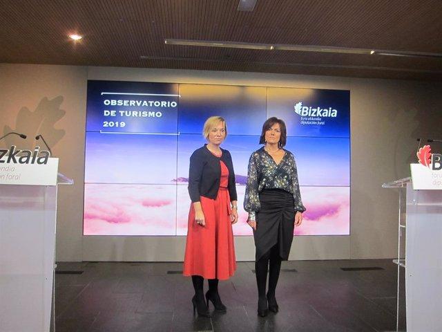 Ainara Bsurko y Cristina Múgica, de Diputación de Bizkaia