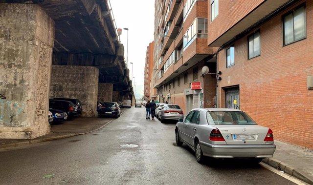Estado actual de la margen de los pares del paseo del Arco de Ladrillo, en Valladolid.