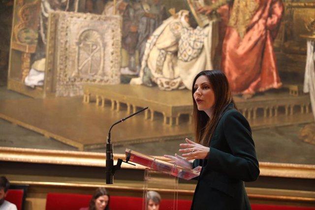 La portavoz de Ciudadanos en el  Senado y líder del partido en Cataluña, Lorena Roldán.