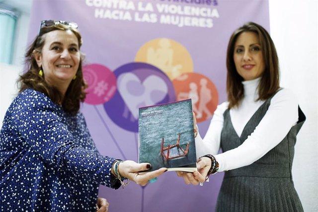 Carmen Belén López en la presentación del libro 'Remos de plomo', de Susana Gisbert
