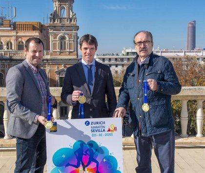 Triana, la Torre del Oro o la Real Maestranza protagonizan el cartel y la medalla del Zurich Maratón de Sevilla