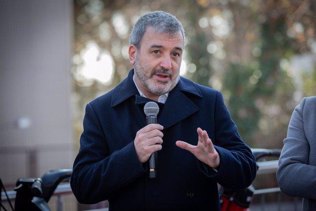 El primer tinent d'alcalde de Barcelona, Jaume Collboni, en la presentació de l'ampliació territorial del Bicing a Barcelona, 11 de gener del 2020