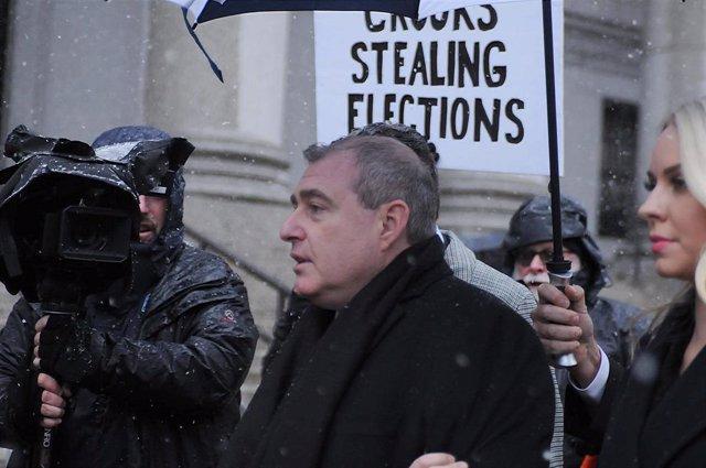Lev Parnas, entrando en un tribunal en Nueva York