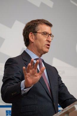 El titular del Gobierno gallego tras el Consello de la Xunta.