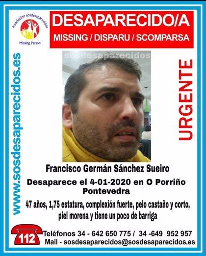 Buscan a un vecino de O Porriño (Pontevedra) desaparecido desde el 4 de enero