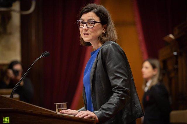 Intervenció d'Eva Granados (PSC) durant el ple monogràfic de les dones al Parlament, 17 de desembre del 2019.