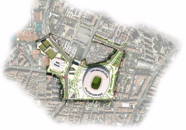 Mapa del futur Espai Barça.
