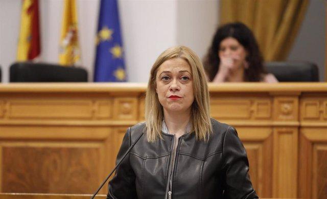 La portavoz de Cs en las Cortes de C-LM, Carmen Picazo, en el pleno