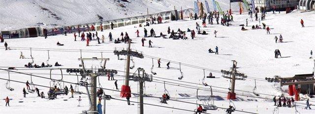 La zona de Borreguiles de la Estación de Esquí de Sierra Nevada