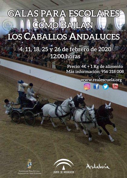 La Escuela Andaluza de Arte Ecuestre celebra cinco nuevas galas para escolares andaluces en Jerez (Cádiz)