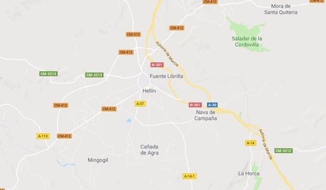 Imagen de Hellín en Google Maps
