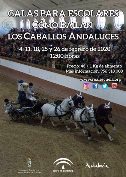 La Escuela Andaluza de Arte Ecuestre celebra cinco nuevas galas para escolares andaluces en Jerez