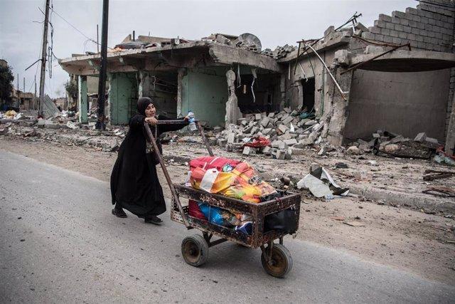 Una mujer en Mosul