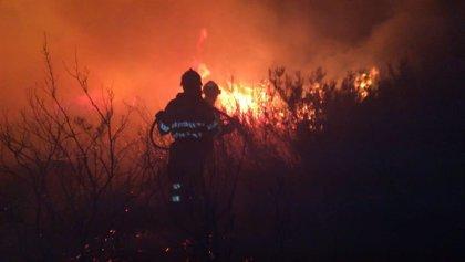 Activo un incendio forestal en Castro de los últimos nueve provocados en Cantabria