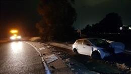 Accidente de tráfico en la A5 junto al Centro Comercial El Faro