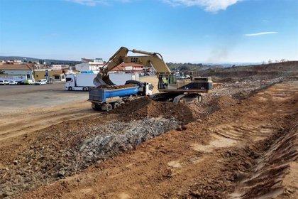 Las obras de mejora del tráfico en San Pedro de Mérida gestionadas por la Diputación de Badajoz podrían acabar en marzo