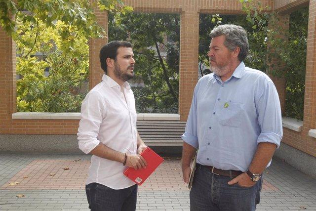 Alberto Garzón y Juan López Uralde