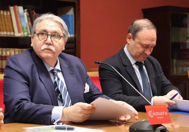 El presidente de la Feria de Zaragoza, Manuel Teruel, este viernes en la rueda de prensa.