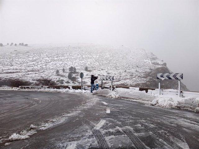 Imagen de Archivo. Nieve en el Puerto de Orduña