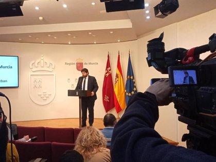 """López Miras considera """"inaudito"""" el intento del Gobierno central de """"boicotear"""" los Presupuestos de la Comunidad"""