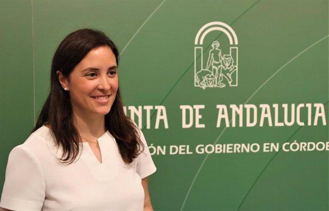 La delegada territorial de Fomento, Infraestructuras, Ordenación del Territorio, Cultura y Patrimonio Histórico de la Junta en Córdoba, Cristina Casanueva, en una imagen de archivo.
