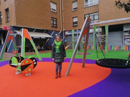 Barakaldo renueva el parque infantil de la calle Extremadura, tras una inversión de 44.619 euros