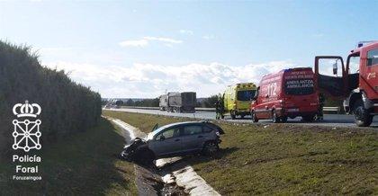 Dos personas heridas en un accidente de tráfico ocurrido en Tafalla