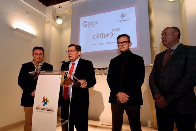 Imagen de la presentación de las acciones de la Diputación de Granada para Fitur