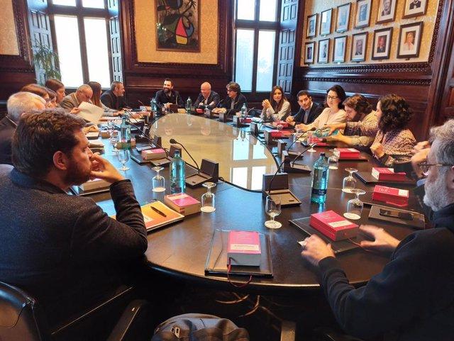 Reunió de la Junta de Portaveus del Parlament de Catalunya.