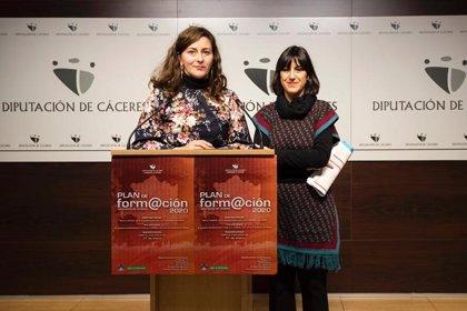 Más de 3.330 empleados públicos se beneficiarán de los 121 cursos del Plan de Formación de la Diputación Cáceres