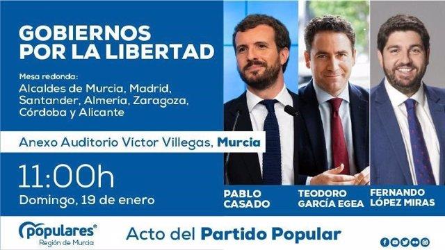 Imagen del cartel del evento de Casado en Murcia