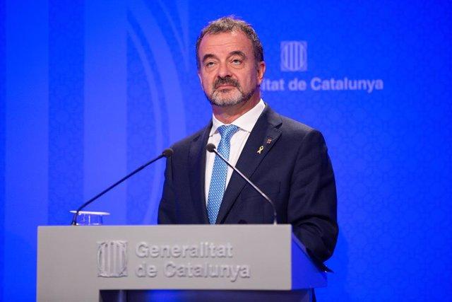 El conseller de Acción Exterior, Relaciones Institucionales y Transparencia de la Generalitat de Cataluña, Alfred Bosch.