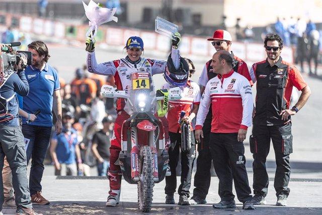 "Rally/Dakar.- Laia Sanz: ""Estoy muy contenta de haber conseguido mi diez de diez"