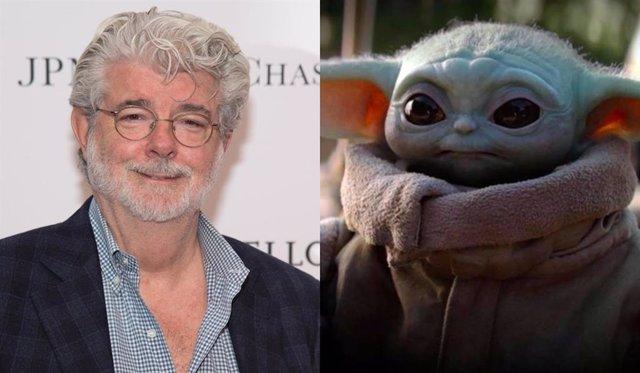 George Lucas y Baby Yoda
