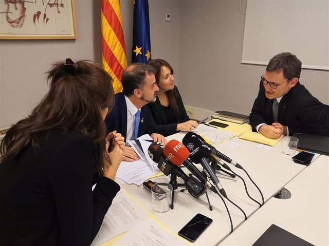 El conseller Alfred Bosch durante la Comisión Interdepartamental de Acción Exterior