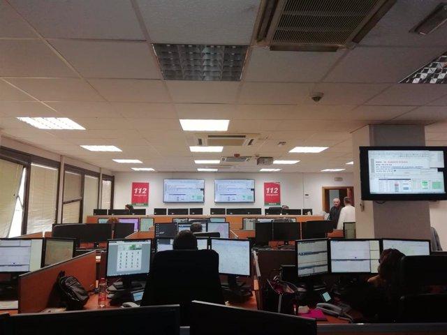 Sala de Málaga de Emergencias 112 Andalucía