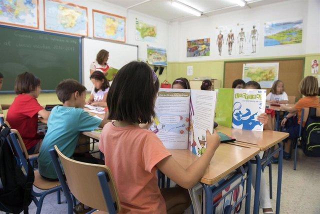 Clase en el colegio Fuentenueva de Granada.