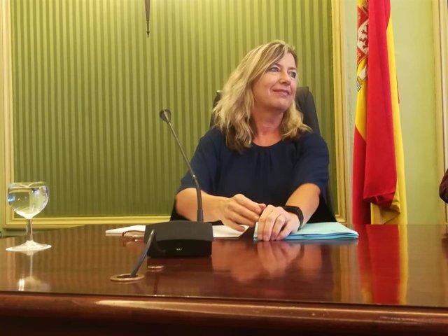 La consellera de Salud, Patricia Gómez, al inicio de una comparecencia parlamentaria.