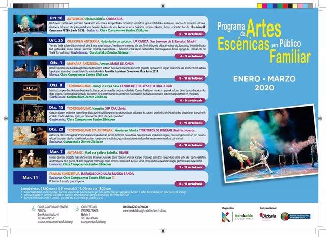Programa de Artes Escénicas para Público Familiar de Barakaldo