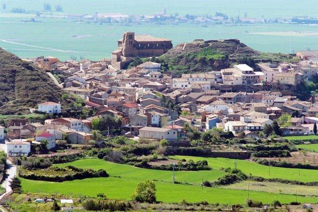 Vista general del núcleo de Bolea, del municipio de La Sotonera.