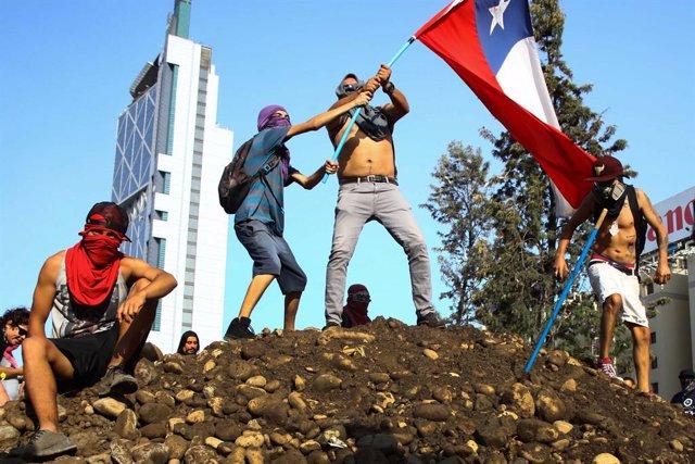 Protestes a Xile.