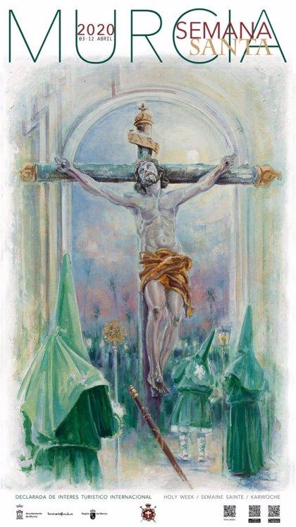 La Esperanza ilumina de verde el cartel de la Semana Santa murciana 2020, a través del pincel de José Hurtado