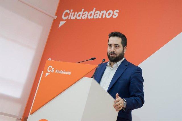 El portavoz adjunto de Ciudadanos (Cs) en el Parlamento andaluz y en el Senado, Fran Carrillo, este sábado