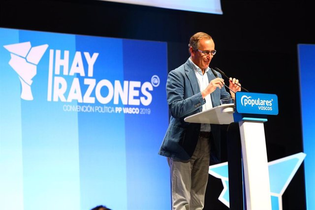 El presidente del PP en Euskadi, Alfonso Alonso