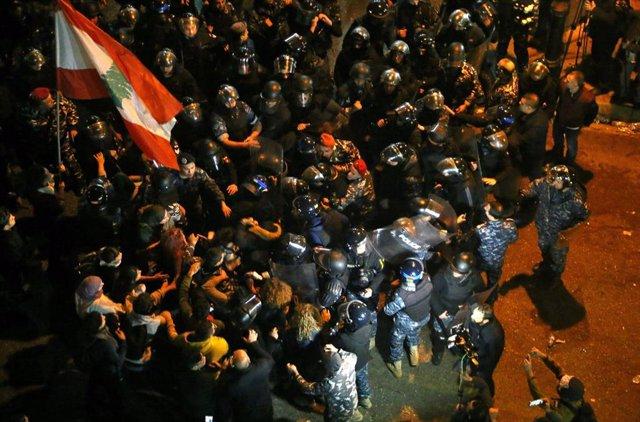 Protestas y manifestaciones en Líbano