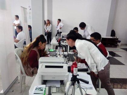 Comienza la fase de empadronamiento biométrico para las elecciones en Bolivia