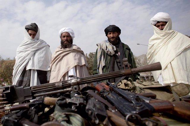 Imagen de milicianos talibán en Afganistán.