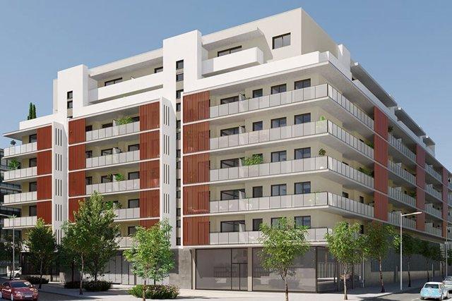 Promoción de Grupo Avintia para AQ Acentor en L'Hospitalet de Llobregat (Barcelona): 124 viviendas