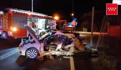 Herido grave un hombre tras una colisión entre dos vehículos en Getafe
